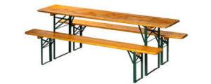 Biergarten Garnituren, Bierzelt-Garnituren